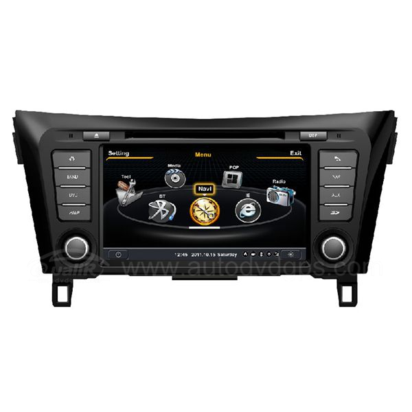 Car DVD GPS Navigation With dual-core/3Zone POP 3G/WIFI/20 Disc CDC/ DVD Recording/ Phonebook / Game For 2014 Nissan X-trail/Rogue