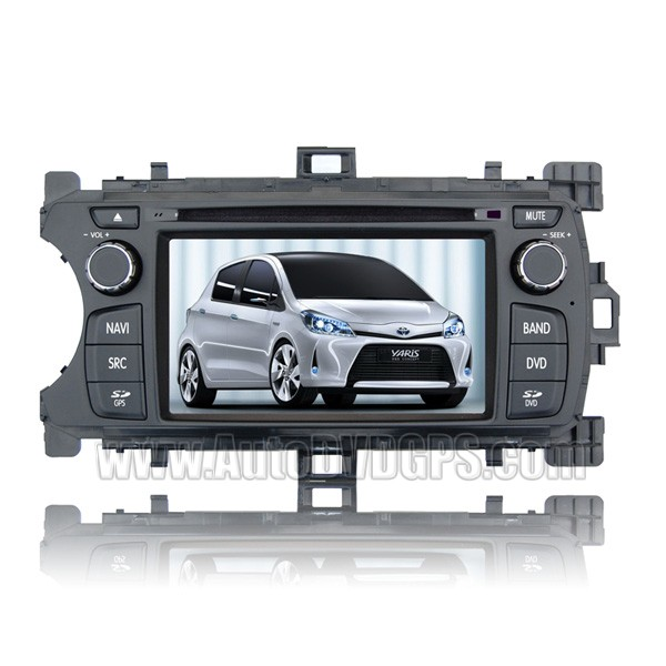 6.2 Inch Car DVD GPS Player For 2012 Toyota Yaris + AM/ FM/ RDS+Steering Wheel Control+ CDC
