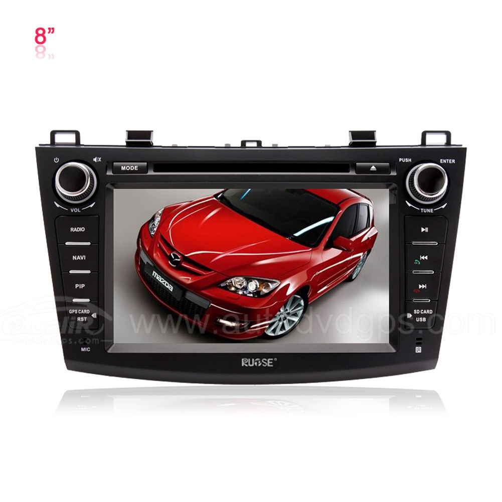 2010 2011 2012 MAZDA 3 DVD GPS Navigation Player with 8 Inch Digital Touch Screen Bluetooth iPod SWC