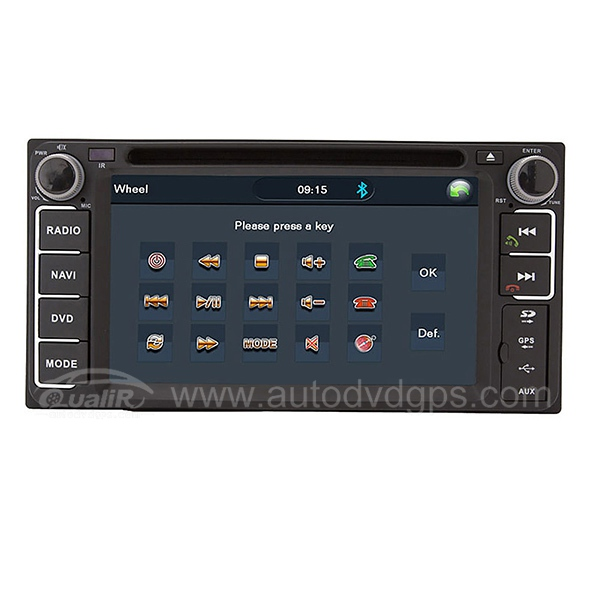 2 DIN DVD GPS player and Bluetooth iPod TV RDS SWC for 96-05 Toyota RAV4