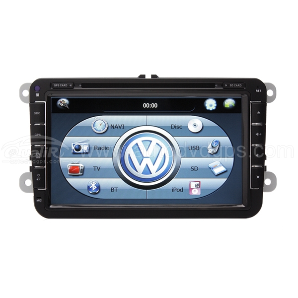 8 inch DVD GPS player for VW Golf MK6 2008-2013 iPod + BT + SWC + RDS HD Digital Touch Screen Monitor