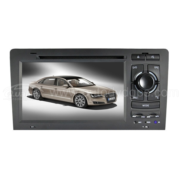 DVD GPS Navigation System with 7 Inch Digital TFT LCD TouchScreen Monitor Bluetooth for Audi A8 S8 1994-2002