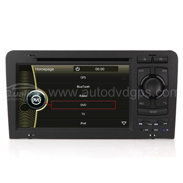 2 DIN DVD GPS Navigation player with 7 Inch TFT LCD touchscreen monitor for AUDI A3 2003 2004 2005 2006 2007 2008 2009 2010