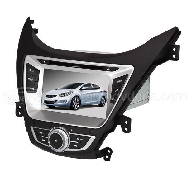 Car DVD Player with GPS navigation and 7 Inch HD touchscreen and BT iPod-control for 2011 Hyundai Elantra Avante i35