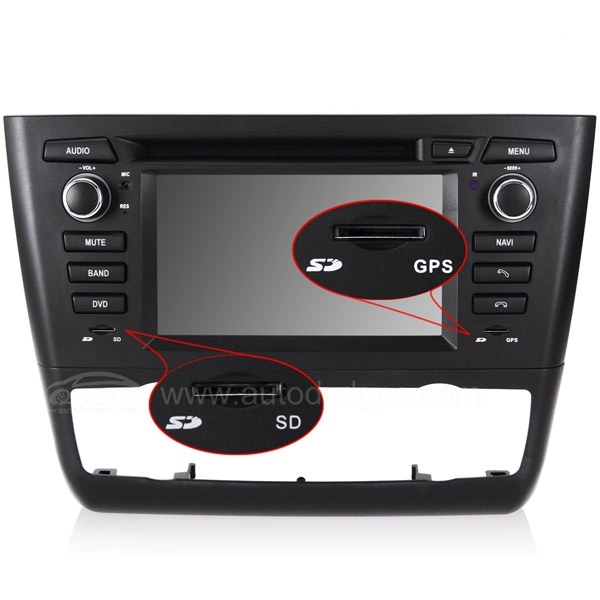 product image of bmw 1 series e81 e82 e87 e88 dvd navigation system with 6 2 inch hd touchcreen. Black Bedroom Furniture Sets. Home Design Ideas