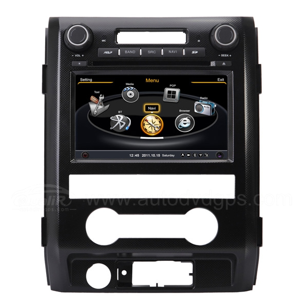 Car DVD GPS Navigation for 2009-2012 Ford F150 with Dual-core / 3Zone POP 3G / WIFI / 20 Disc CDC / DVD Recording / Phonebook / Game