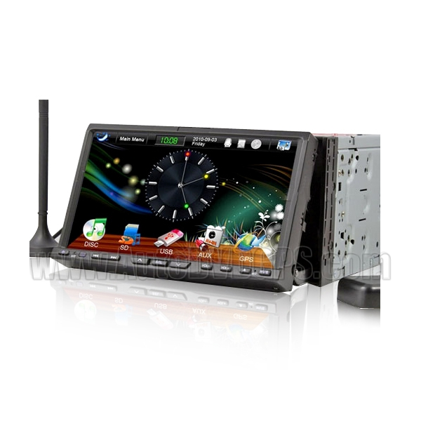 Car DVD Player With 7 Inch Touchscreen, GPS, DVB-T, MPEG-4, MPEG-2, BLUETOOTH, PIP, iPod