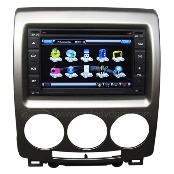 Car DVD Navigation with 6.2 Inch digital touchscreen and Bluetooth RDS PIP V-CDC for Mazda5
