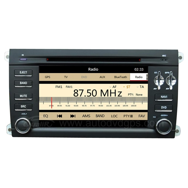 Porsche Cayenne DVD Navigation System with 7 Inch Digital Touchscreen Monitor 19 OSD Language supported