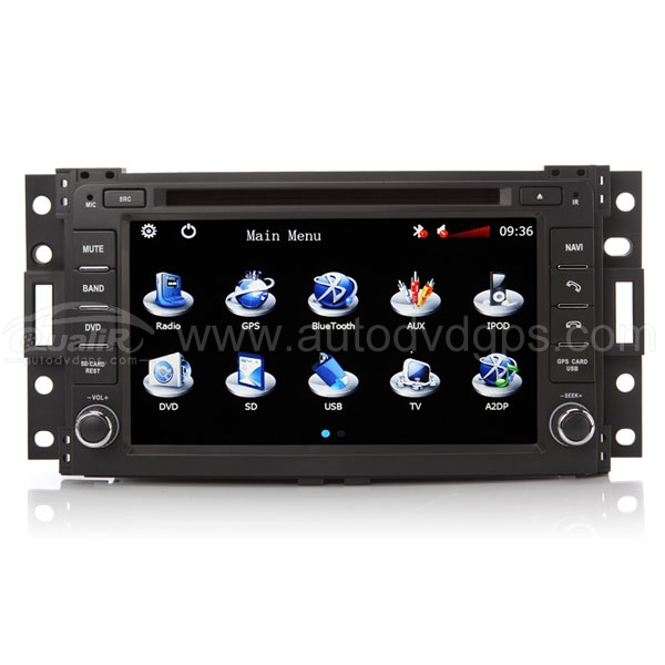 Chevrolet, Buick, Saturn, Uplander Series DVD GPS Player with 7 Inch Touchscreen Monitor