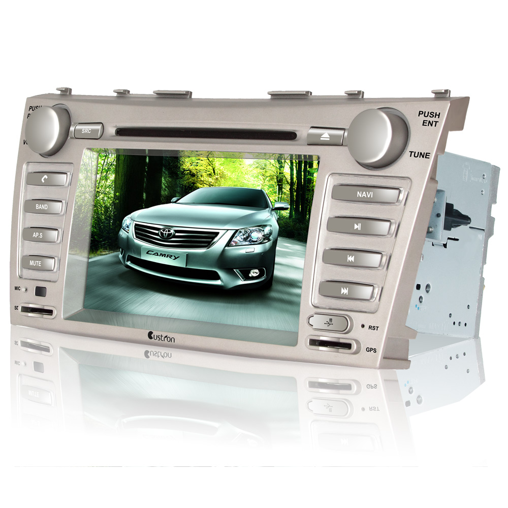 Custron T1070CMR 7 Inch Car DVD GPS Player For Camry + AM/ FM/ RDS+Steering Wheel Control+ CDC phonebook