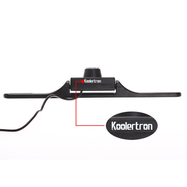 Koolertron  Car Rearview License Plate Black Camera+ IR Night Vision + 1/4 Inch CMOS PAL