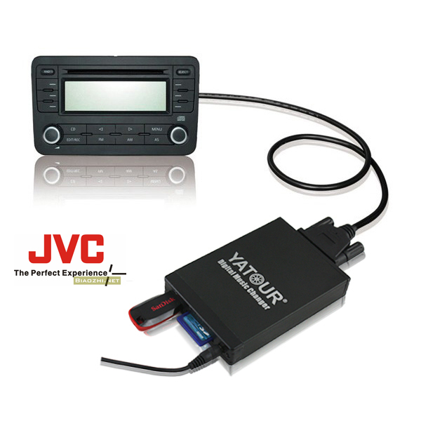 Yatour Car Digital Music Changer USB SD MP3 + Bluetooth (optional) for Aftermarket JVC Radio