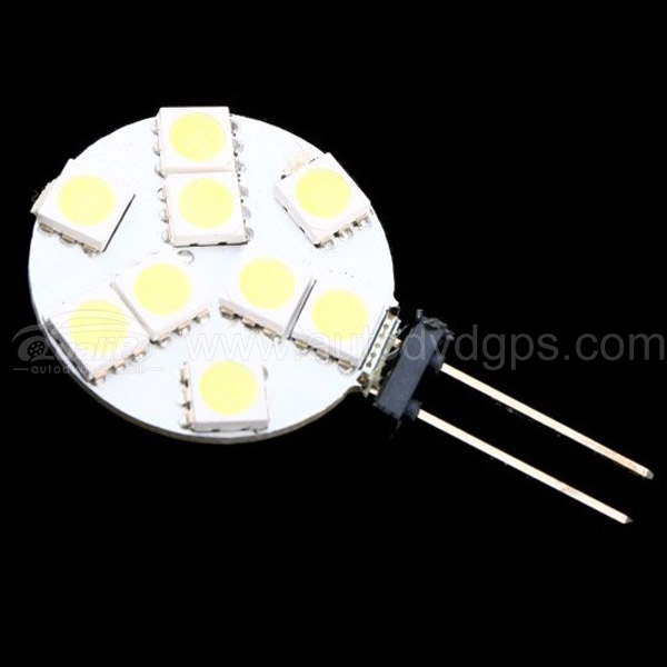 2PCS G4 White 5050 9SMD LED Light for Car Lamp Bulb