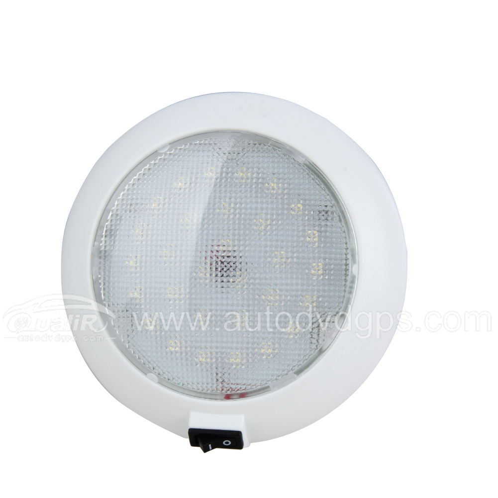 12V 30pcs LED Car Vehicle Indoor Roof Ceiling Lamp circular warm Lighting