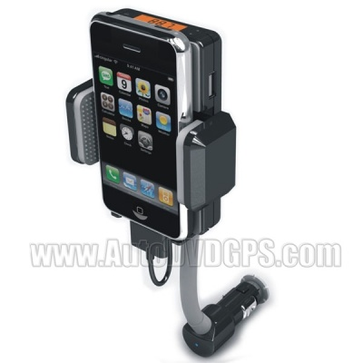 All-in-one FM Transmitter Hands Free Car Kit Charger and Holder
