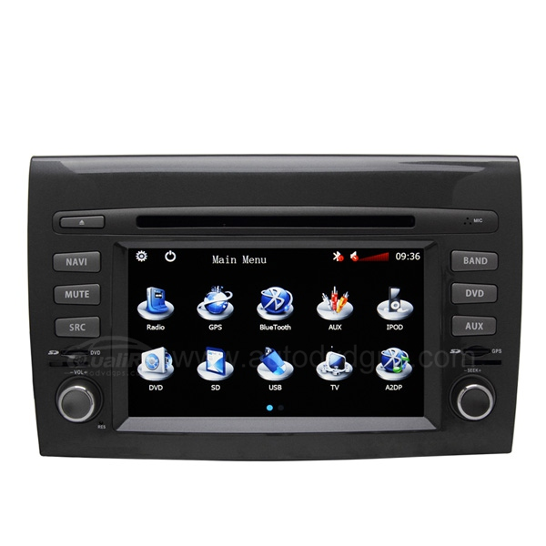 Car DVD Navigation System with 6.2 Inch HD touchcreen CAN-BUS for FIAT BRAVO