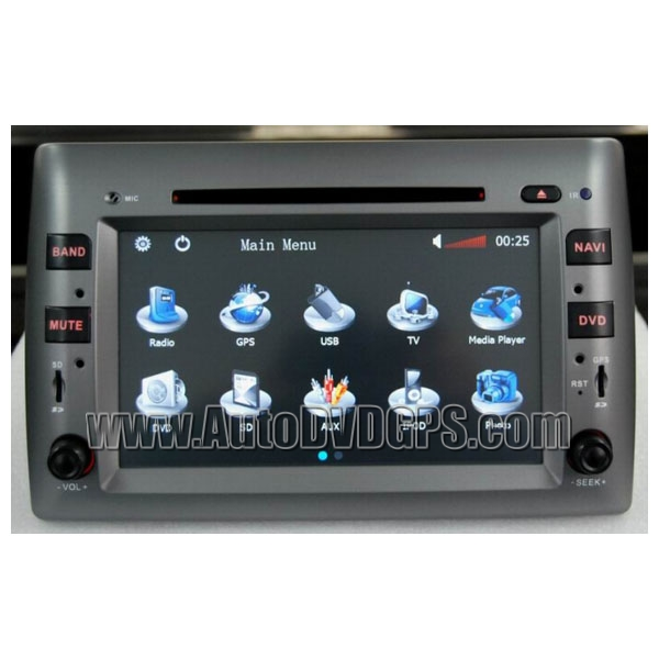 Fiat Stilo Car DVD Navigation System with 8 Inch HD touchscreen monitor