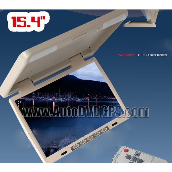 15.4inch 1024*768 Flip Down  Monitor  IR FM, VGA SD Port, Beige Colour