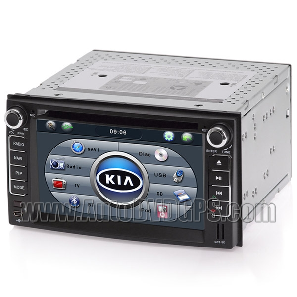 2DIN DVD GPS player and Bluetooth iPod RDS SWC with Digital HD touchscreen for KIA Carens