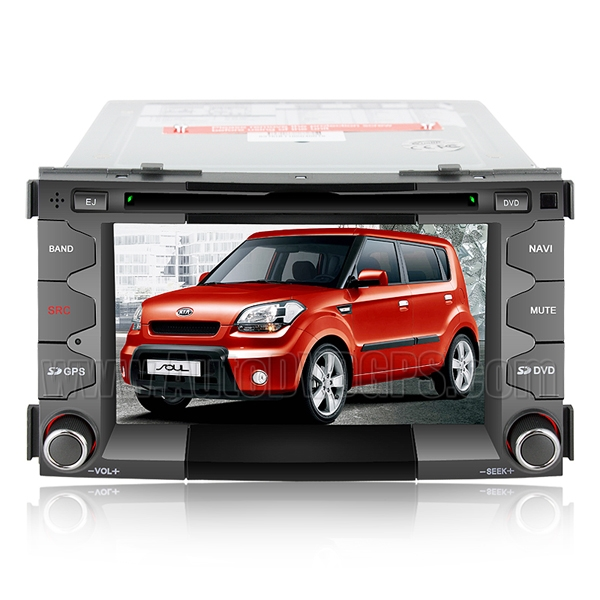 Car DVD Player with GPS navigation and 6.2 Inch HD touchscreen and Bluetooth for KIA SOUL