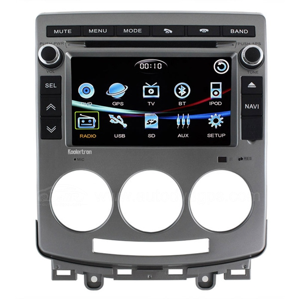 Car DVD GPS Navigation Player/7 Inch Digital touchscreen / Bluetooth iPod RDS CDC for Mazda 5