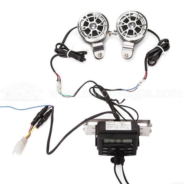 Motorcycle Audio System Handlebar FM Radio MP3 Stereo Speakers