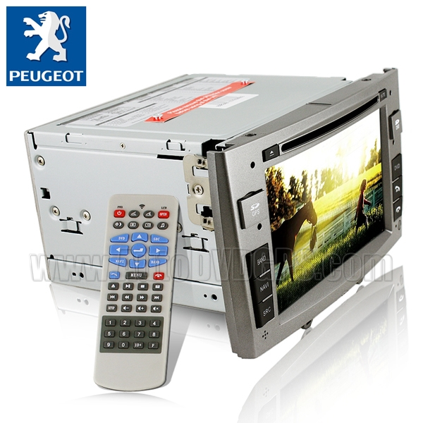 Car DVD Player with GPS navigation and 7 Inch HD touchscreen and Bluetooth for Peugeot 308 408