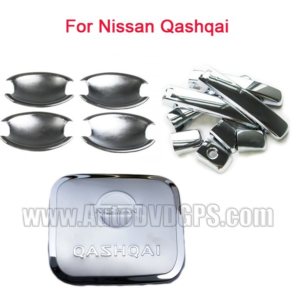 2007-2009 Nissan Qashqai Chrome Door Handle Cover and Chrome fuel gas cover cap