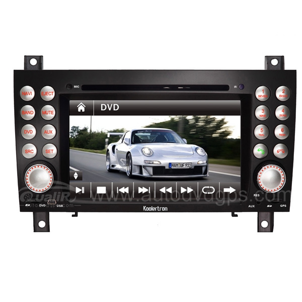 7 Inch HD Touch Screen DVD GPS Navigation System with iPod Bluetooth for MERCEDES Mercedes-Benz SLK-Class-171 2004-2011 SLK200 SLK280 SLK350 SLK55 Kompressor