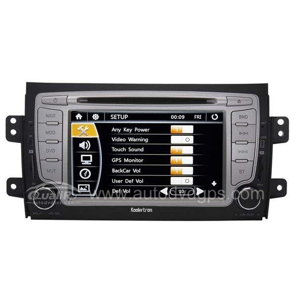 7 Inch Digital HD touchscreen DVD Player with GPS navigation and BT Radio for Suzuki SX4