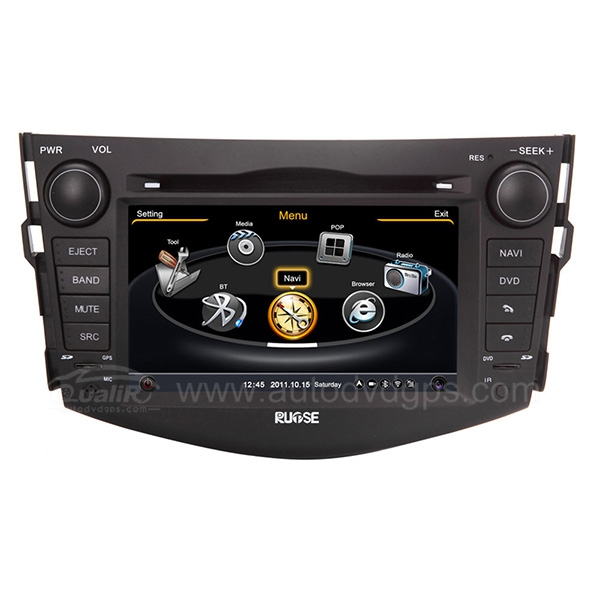 Upgraded 7 Inch 2006-2013 Toyota RAV4 Navigation System With 3 Zone/POP/3G/WIFI/DVD Recording/Phonebook/Game
