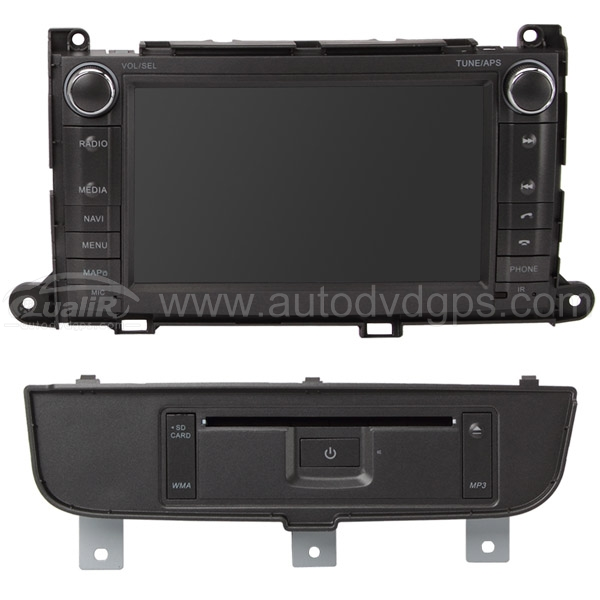 8 Inch Digital HD Touchscreen DVD GPS player with SWC iPod BT Control for 2011 2012 TOYOTA SIENNA