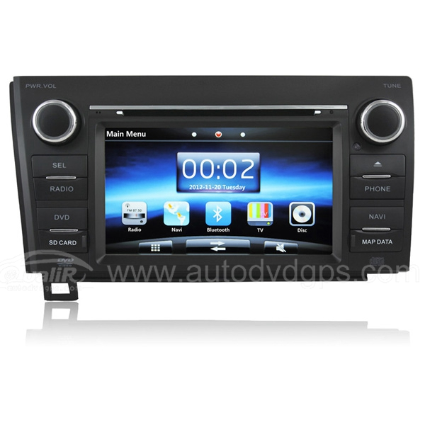7 Inch Digital HD Touchscreen DVD GPS player with SWC iPod BT Control for 2007-2011 Toyota Tundra & Sequoia