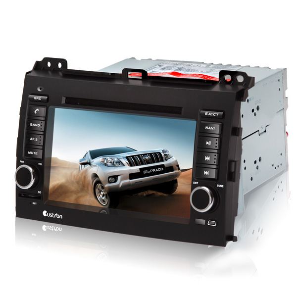 Custron T1070PRD OEM Factory-Style DVD GPS Navi Radio For Toyota Prado + Bluetooth Handsfree iPOD Phonebook