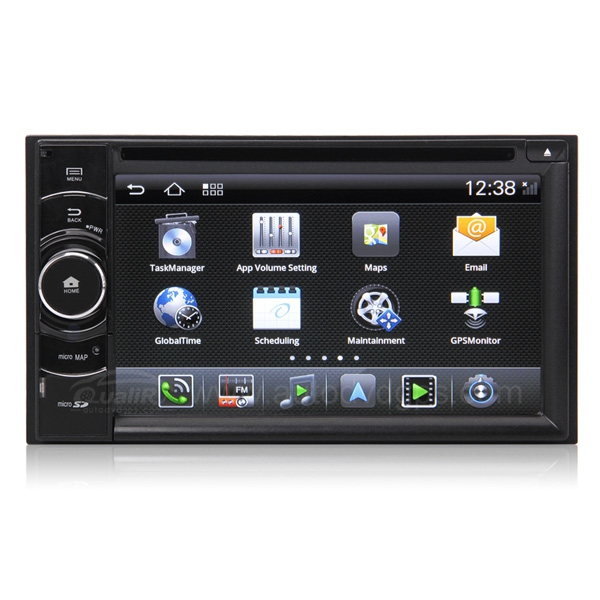 Android Universal Car DVD GPS Navigation with 6.2 inch HD Digital Screen / 3G/WIFI / Virtual CDC