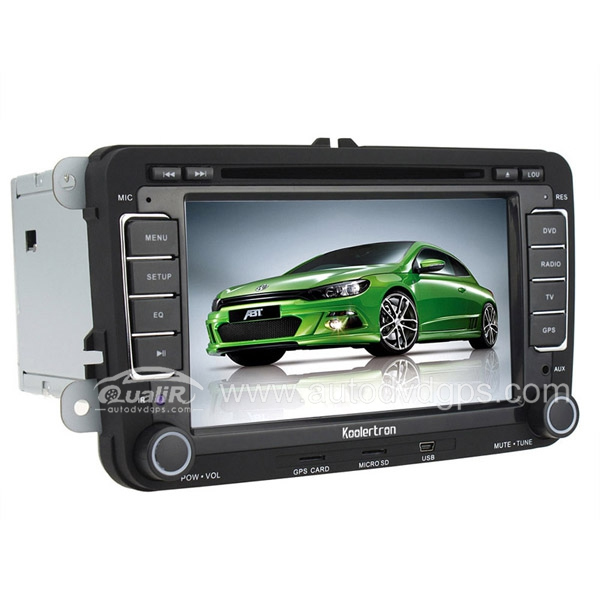 Aftermarket OEM VW CADDY CAR DVD Player With 7 inch Touch Screen Monitor 3D Interface